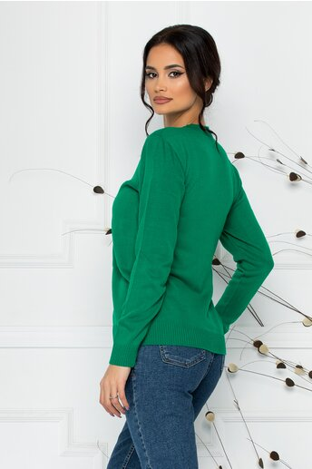 Bluza casual verde cu Mickey Mouse