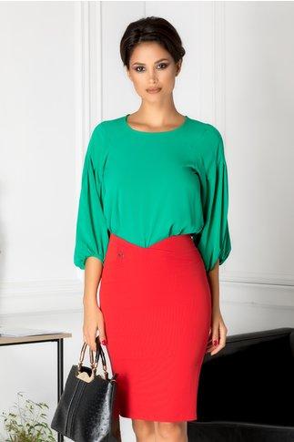 Bluza Cornelia verde casual