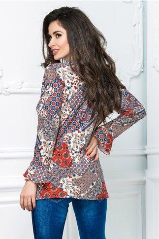 Bluza dama casual cu imprimeuri colorate
