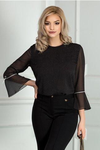 Bluza dama neagra cu buline albe
