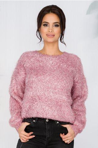 Bluza Debrah roz cu fir stralucitor