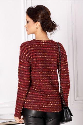 Bluza Doina mov cu insertii colorate