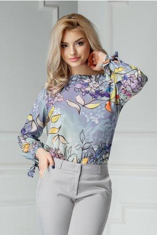 Bluza Domino casual cu imprimeuri