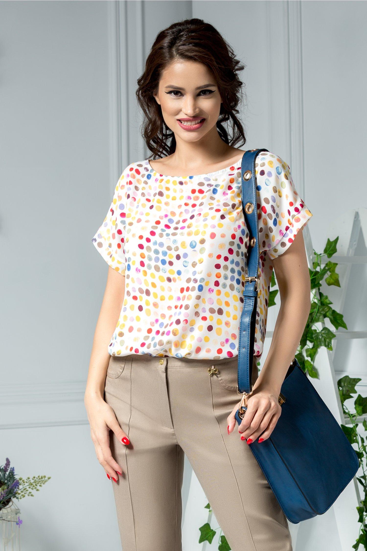 Bluza Dots cu buline multicolore