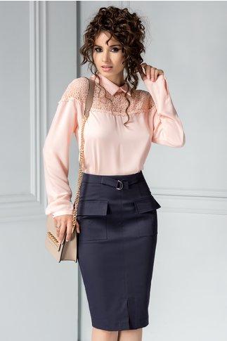 Bluza Dyda roz eleganta cu broderie