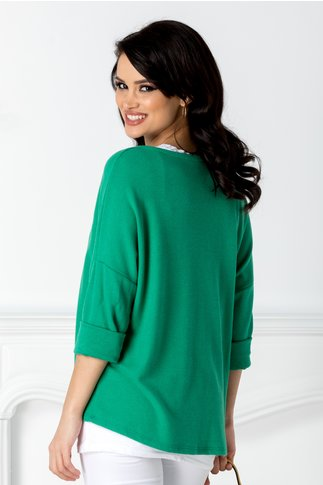 Bluza Fiore verde lejera