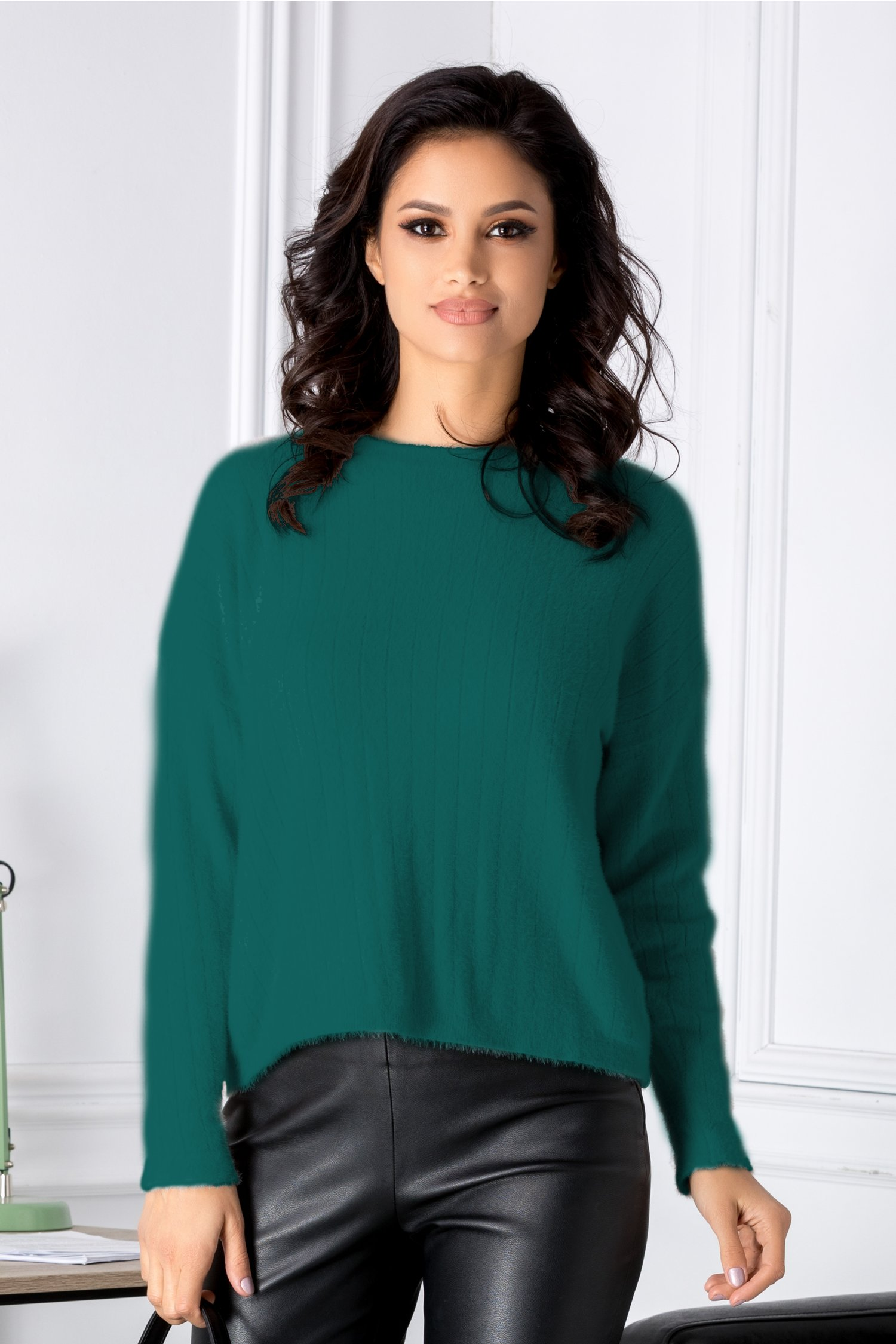 Bluza Gilly verde in croi lejer thumbnail
