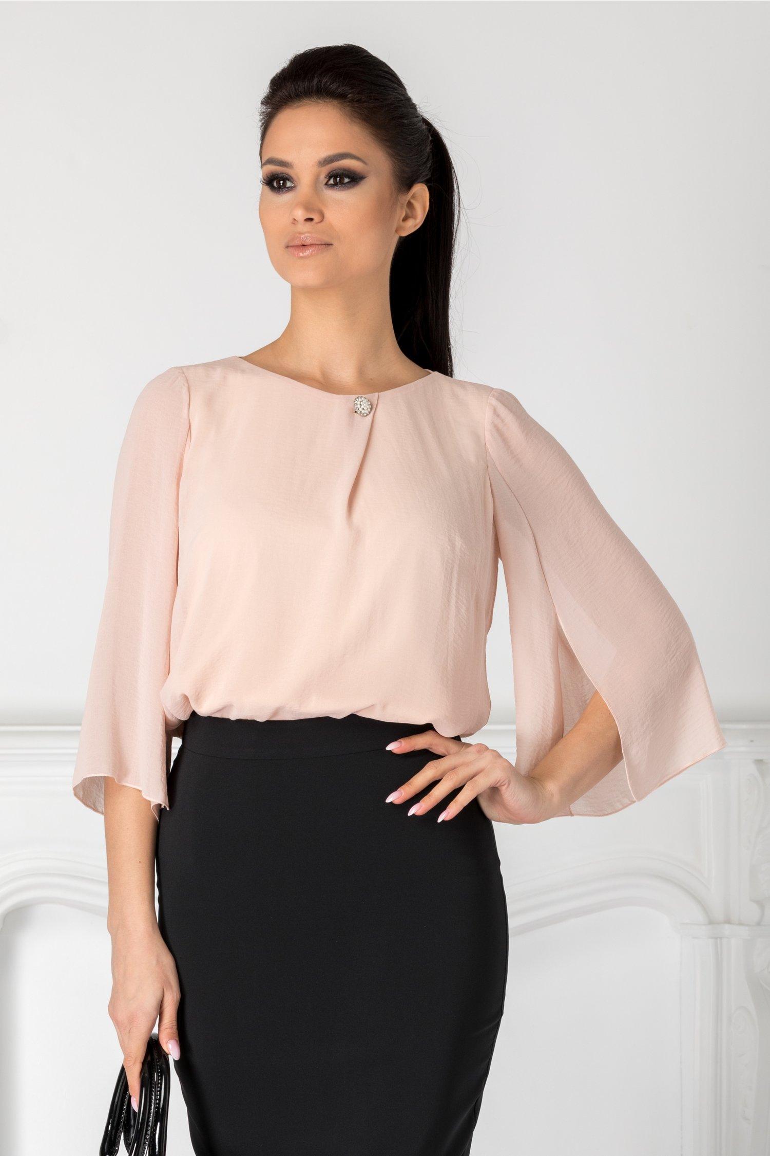 Bluza Ginette roz pal vaporoasa