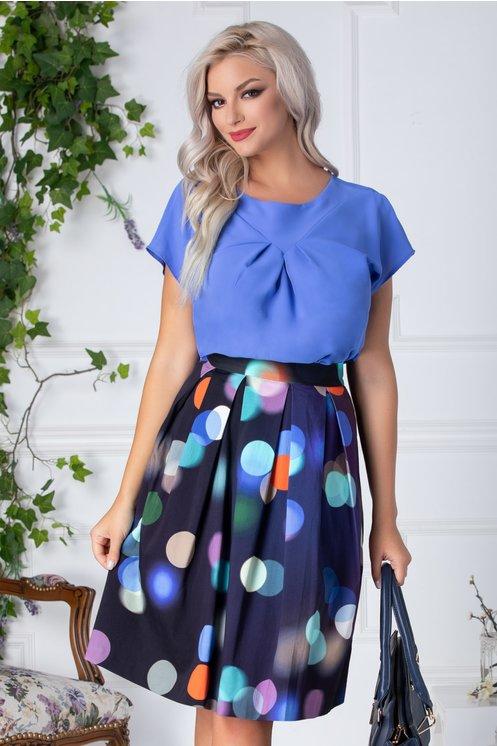 Bluza Grety albastra eleganta