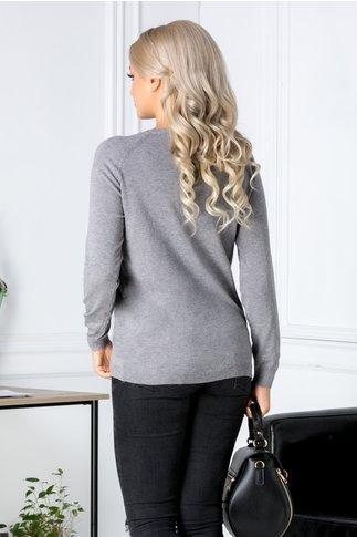 Bluza gri cu iepuras pufos si aplicatii 3D