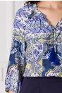 Bluza Helen albastra cu imprimeu aztec