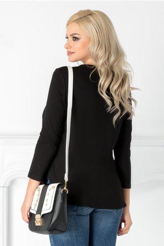 Bluza Jenny neagra cu decolteu in V