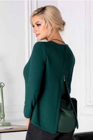 Bluza Keda asimetrica verde
