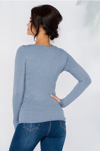 Bluza Kimmy bleu cu decolteu in V