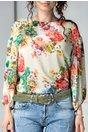 Bluza Lacra vernil cu imprimeuri florale