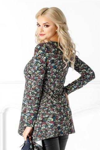 Bluza LaDonna cu imprimeu floral si aplicatie 3D