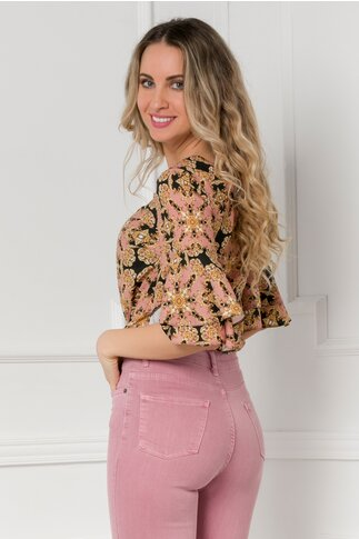 Bluza LaDonna cu imprimeu vintage roz