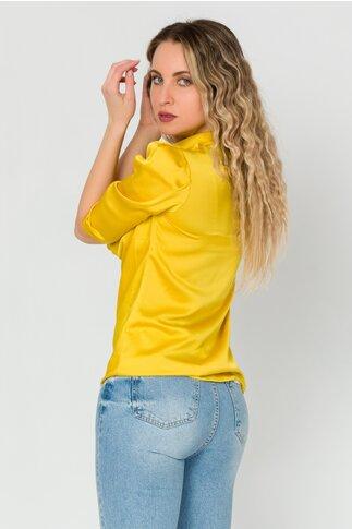 Bluza LaDonna galben cu guler lasat