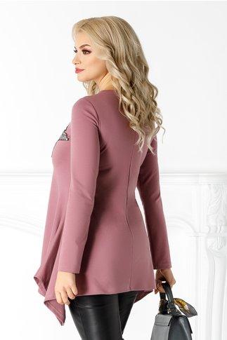 Bluza LaDonna lila cu paiete la bust