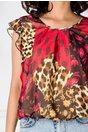 Bluza LaDonna neagra cu imprimeu abstract