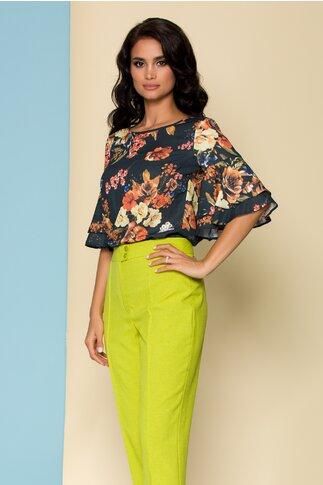 Bluza LaDonna neagra cu imprimeuri florale
