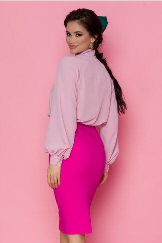 Bluza LaDonna roz pal cu nasturi decorativi