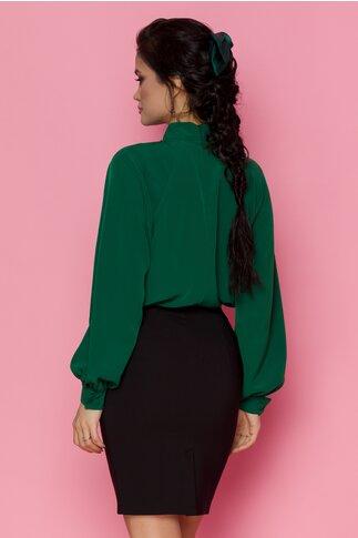 Bluza LaDonna verde cu nasturi decorativi