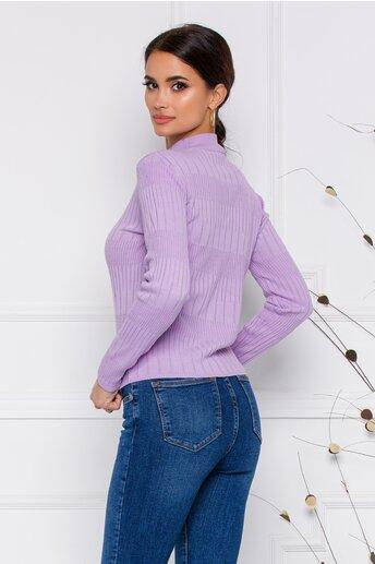 Bluza Leona lila din tricot