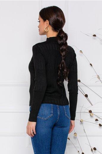 Bluza Leona neagra din tricot