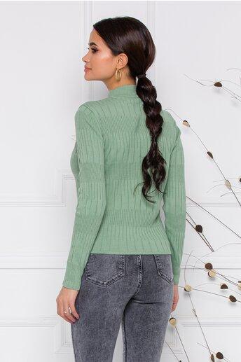 Bluza Leona verde pal din tricot
