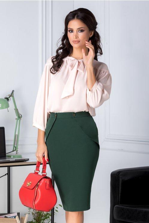 Bluza Leonard Collection bej vaporoasa eleganta