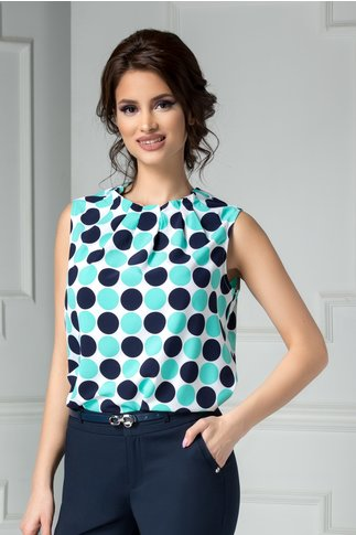 Bluza Leonard Collection cu buline bleu