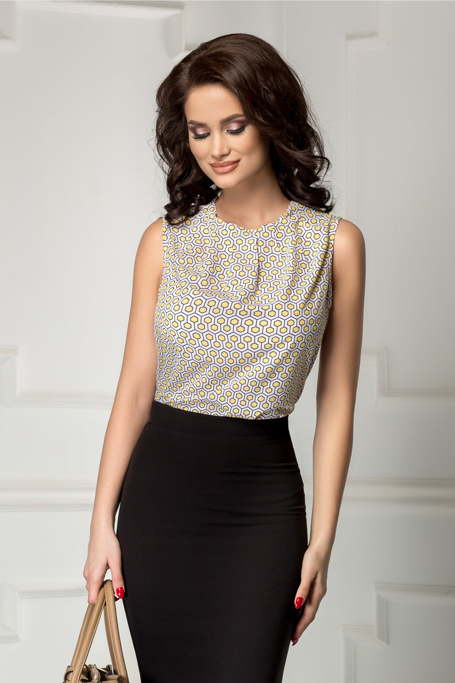 Bluza Leonard Collection cu galben office