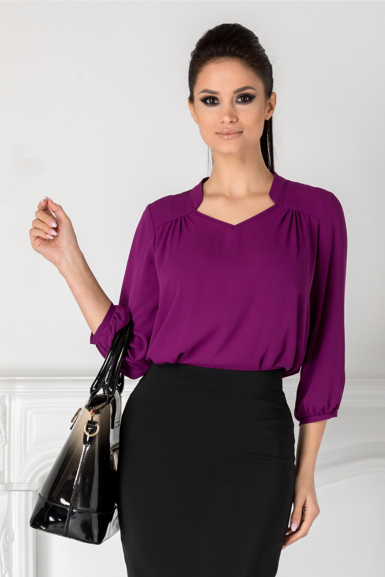 Bluza Leonard Collection mov vaporoasa
