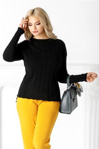 Bluza Lia neagra din tricot cu striatii