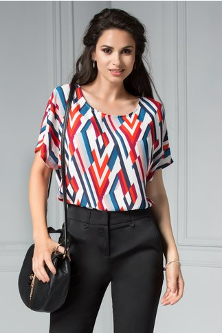 Bluza Lowana de vara eleganta cu imprimeu