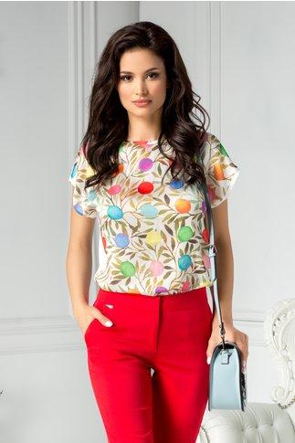 Bluza Luisa cu imprimeu colorat
