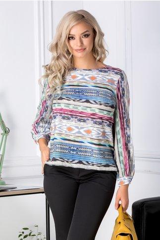 Bluza Malvina cu imprimeu multicolor