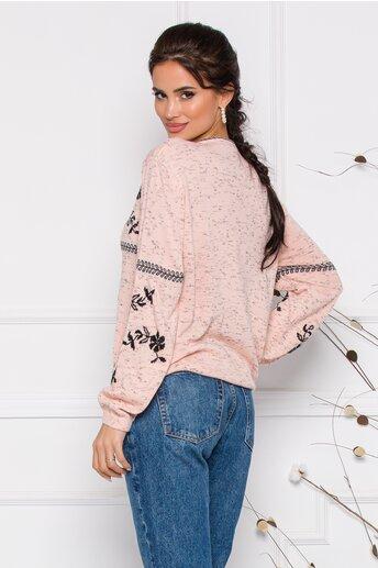 Bluza Mara roz lejera cu imprimeu floral