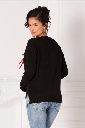 Bluza Marie neagra cu pisicute