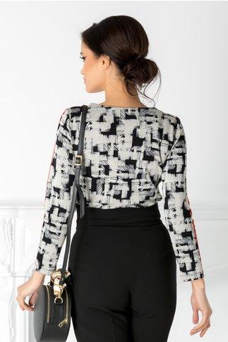 Bluza Martina cu imprimeu negru si rosu