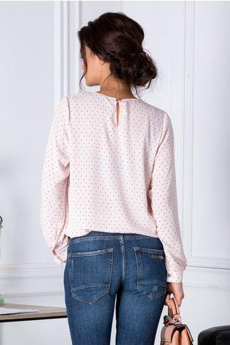 Bluza Mella roz pal cu buline negre