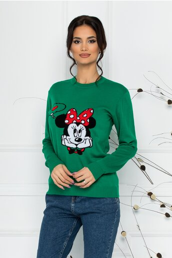 Bluza Minnie in Love verde