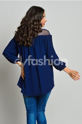 Bluza Mira din Voal Bleumarin