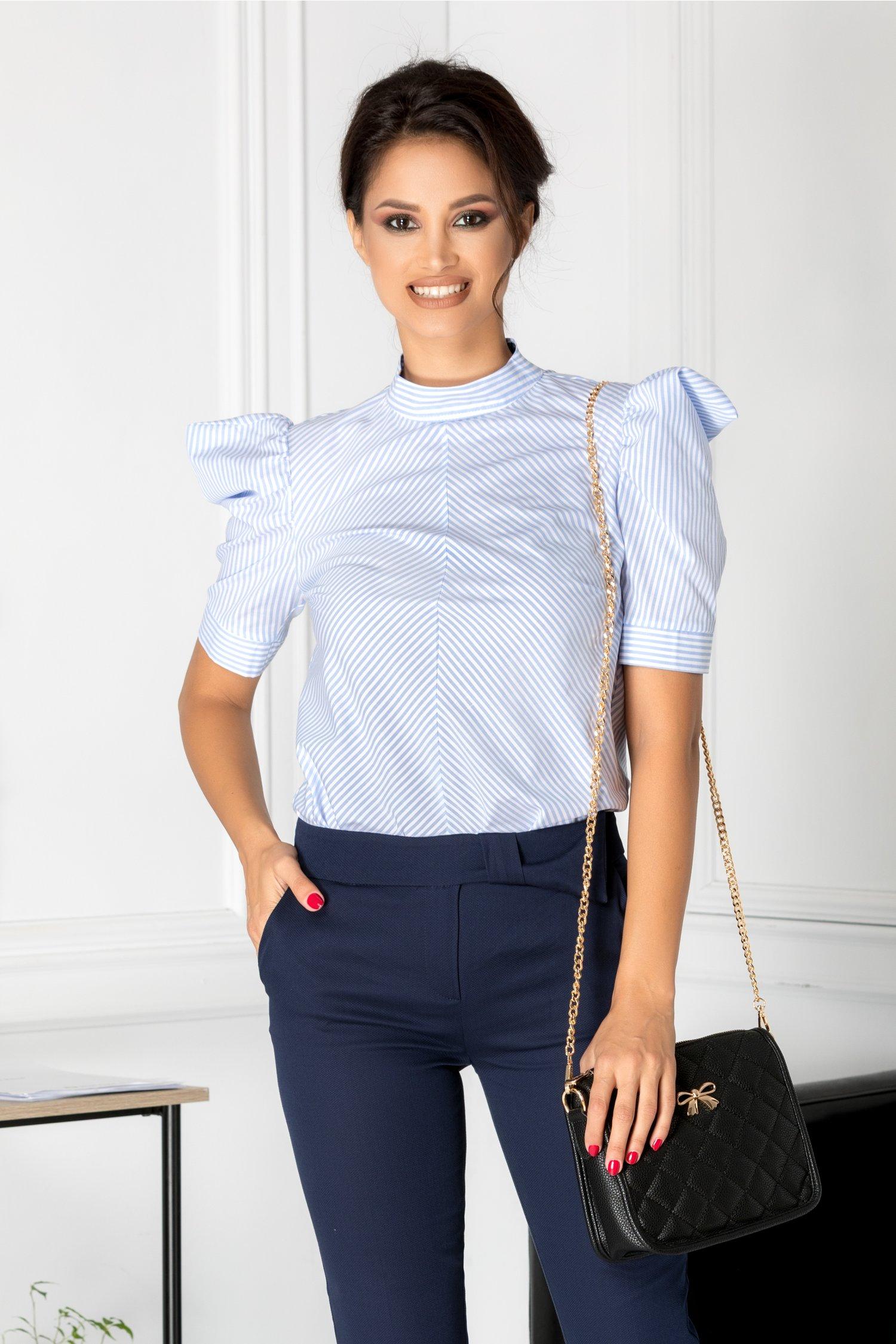 Bluza Miru cu dungi bleu si albe