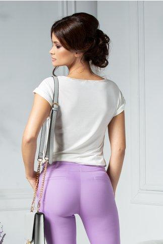Bluza Morana casual cu imprimeu modern