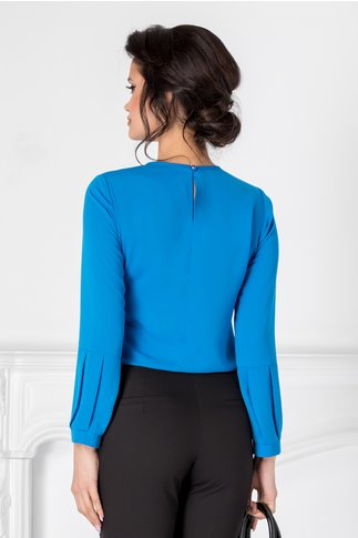 Bluza Moze albastra cu mansete speciale