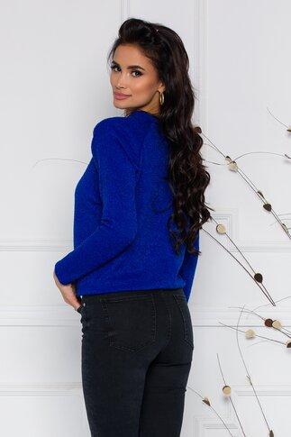 Bluza Moze albastra din jerse