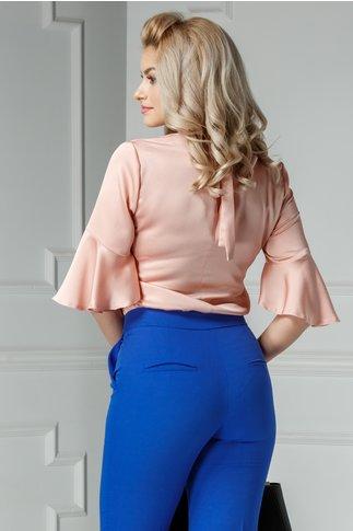 Bluza Moze Camil roz praf cu funda la spate