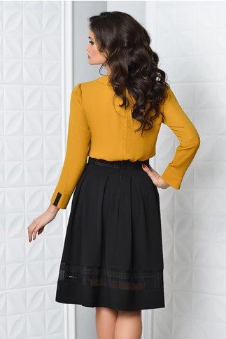 Bluza Moze Erica galben mustar eleganta